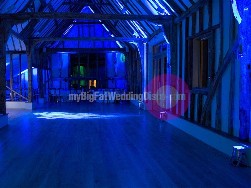 cool blue lighting