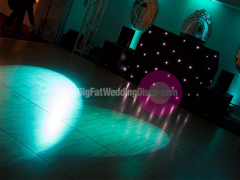 teal colour uplighting