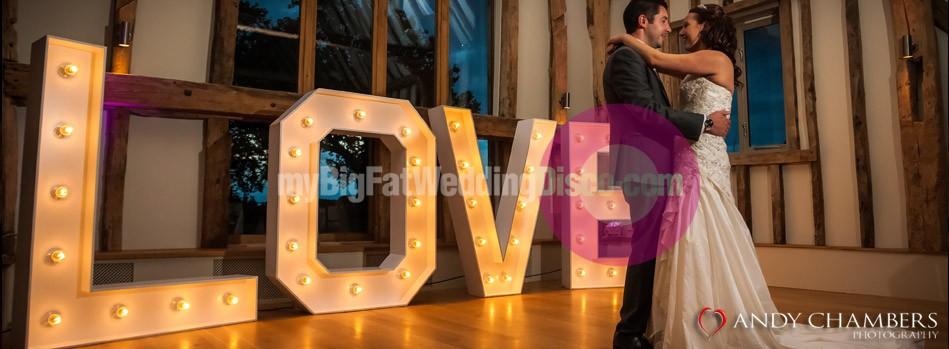 Large Wedding Letter decoration