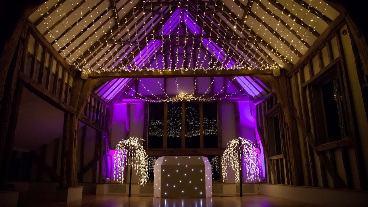 fairy light star canopy