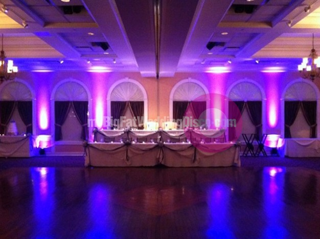 Wedding uplighting service available