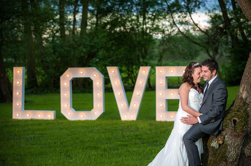 Giant love lettering
