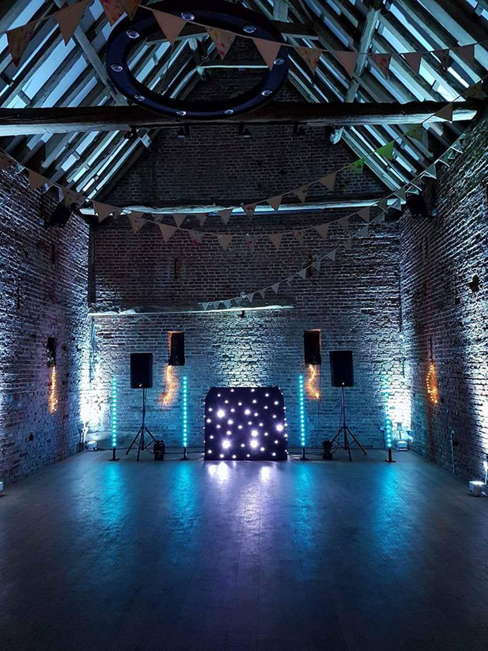 Wedding transformation with lights